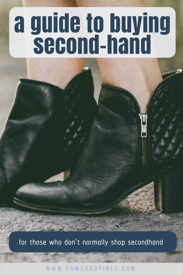 Cute shoes with text overlay: a guide to buying second-hand