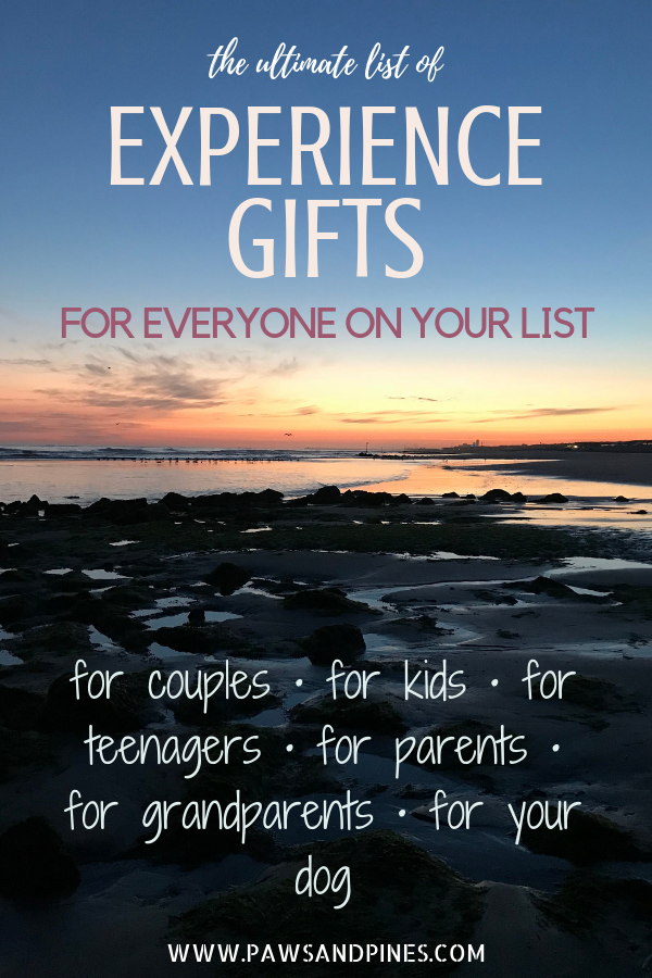 A sunset experience with text overlay: the ultimate list of experience gifts for everyone on your list