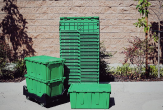 Rent moving boxes for a more sustainable, eco-friendly move. More than 15 states now have companies that are renting out plastic moving bins. It's the sustainable choice as it can be reused hundreds of times and recycled at the end of its life.